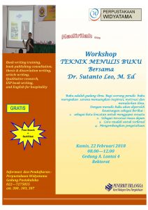 "WORKSHOP ""TEKNIK MENULIS BUKU"""