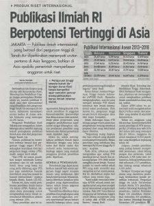 PUBLIKASI RI BERPOTENSI TERTINGGI DI ASIA