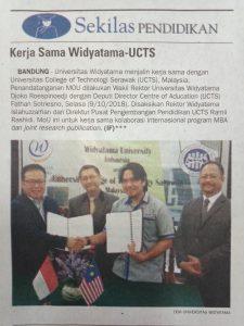 KERJASAMA UNIVERSITAS WIDYATAMA DENGAN UCTS MALAYSIA