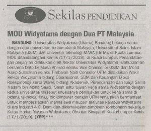 KERJASAMA UNIVERSITAS WIDYATAMA DENGAN USIM DAN UiTM MALAYSIA