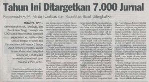KEMENRISTEKDIKTI TARGETKAN 7.000 JURNAL TERAKREDITASI TAHUN INI