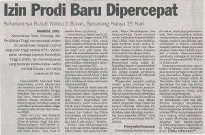 IZIN PRODI BARU DIPERCEPAT