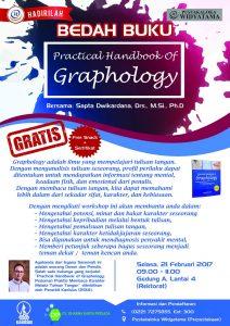 """Bedah Buku """"Graphology"""" Karya Sapta Dwikardana, Drs., M.Si., Ph.D"""